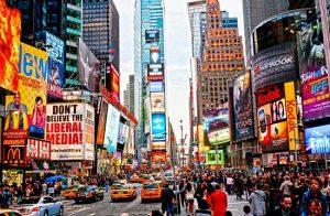 Quảng Trường Thời Đại nổi tiếng ở New York